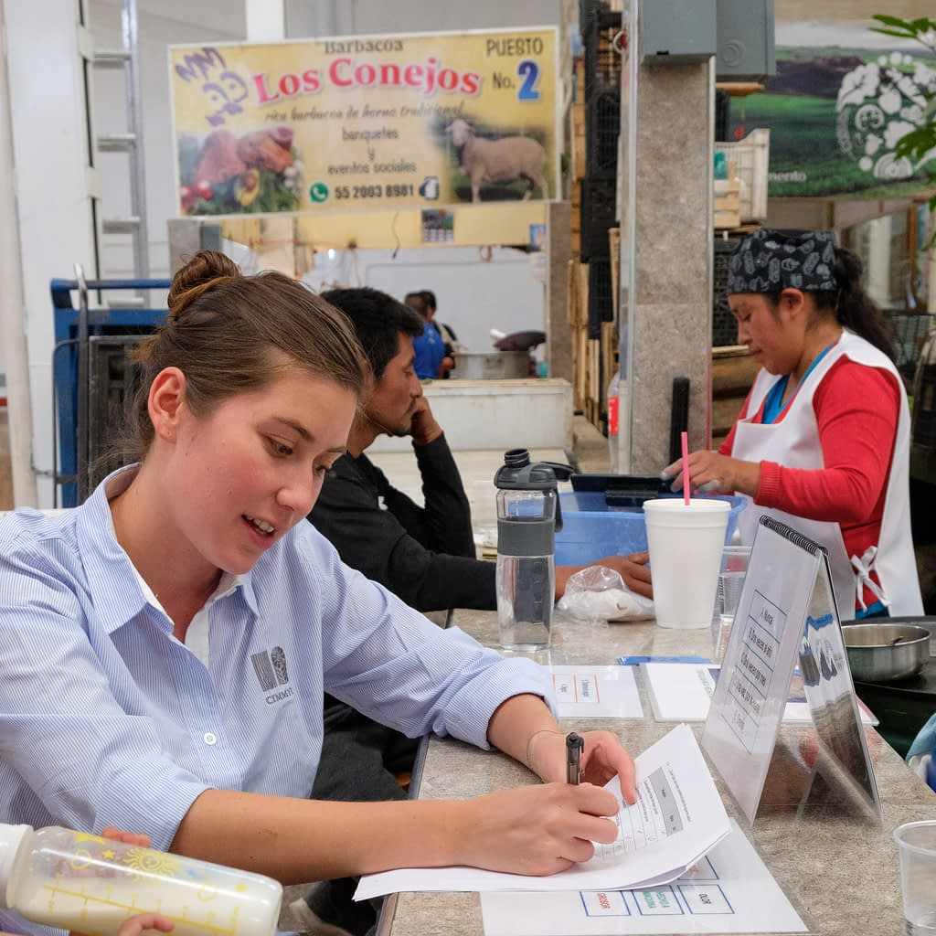 """""""There is a certain pride in the blue tortilla. As Mexicans, the tortilla is something that brings us together,"""" said Mariana Garcia Medina, research assistant and interviewer. (Photo: Carolyn Cowan)"""