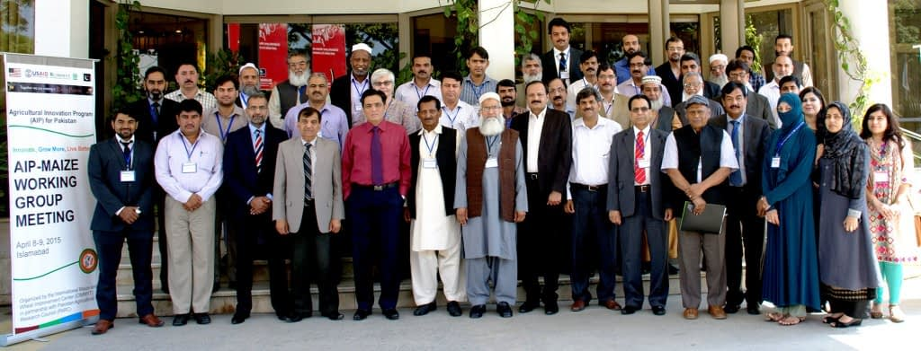 Participants in the annual AIP-Maize Working Group meeting. Photo: Amina Nasim Khan/CIMMYT.