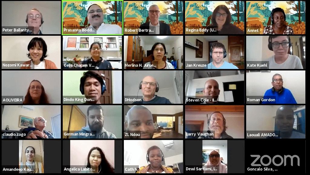 Participants on the webinar on Integrated Pest and Disease Management. (Photo: CIMMYT)