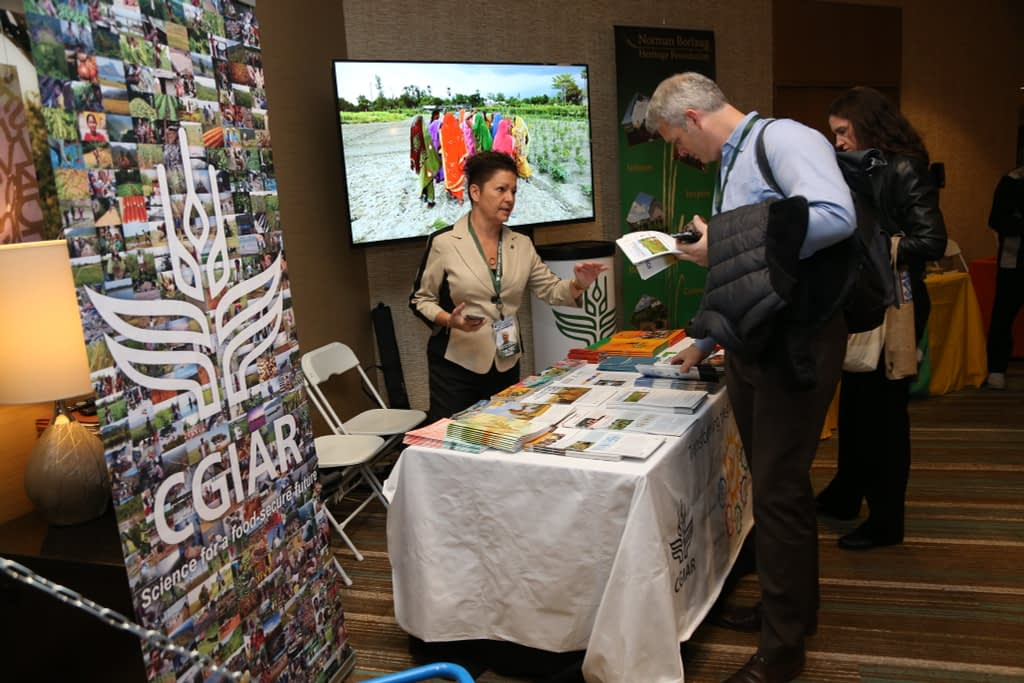 CGIAR had a booth at the 2019 World Food Prize and Borlaug Dialogue, and participated in several events and panels. (Photo: World Food Prize)