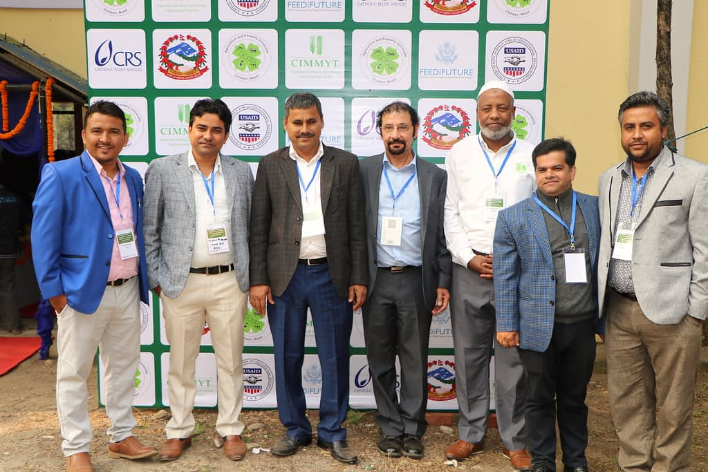 Organizers of the stakeholder consultation workshop to enhance the role of higher learning institutions in the Nepal seed sector at AFU, Chitwan. (Photo: Bandana Pradhan/CIMMYT)