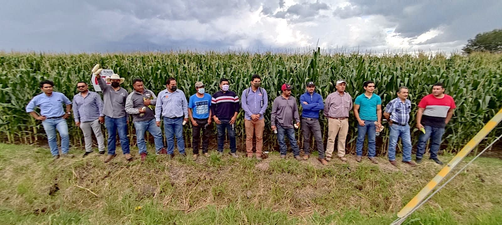 Planning meeting and field day with farmers who want to participate in the Agriba Sustentable project, in El Greco, Pénjamo, in Mexico's Guanajuato state. (Photo: CIMMYT)