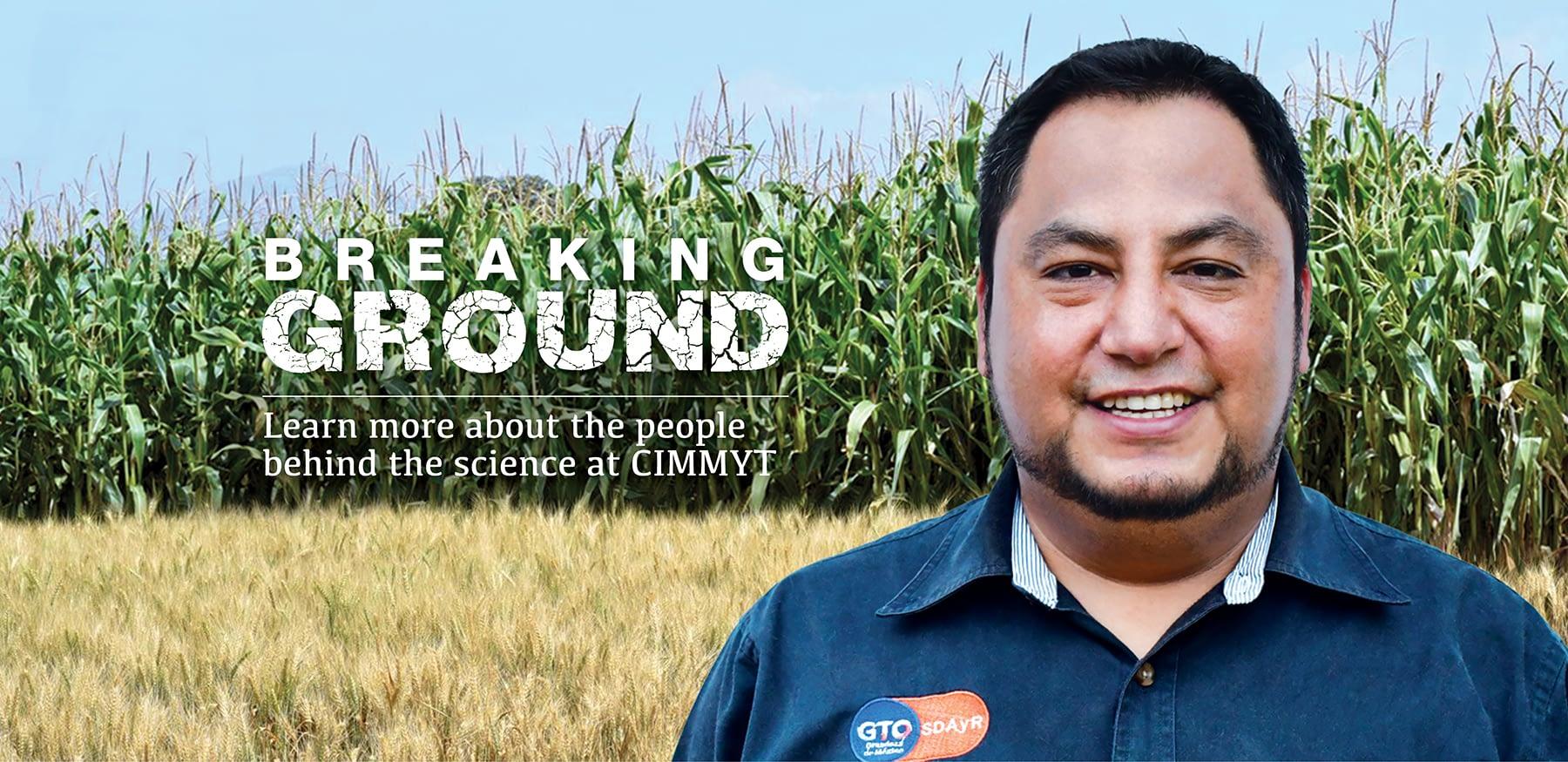 Ortiz Hernández, manager of CIMMYT's innovation hub in Bajío, Mexico. (Photo: CIMMYT)