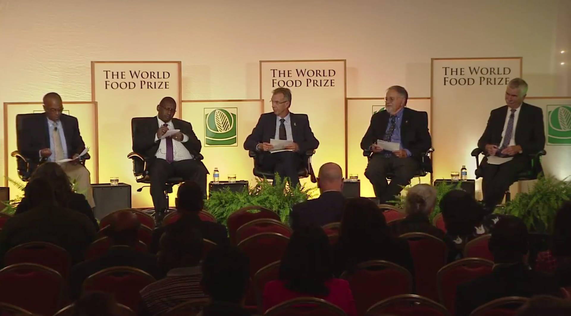 Fall armyworm session at 2018 Borlaug Dialogue.