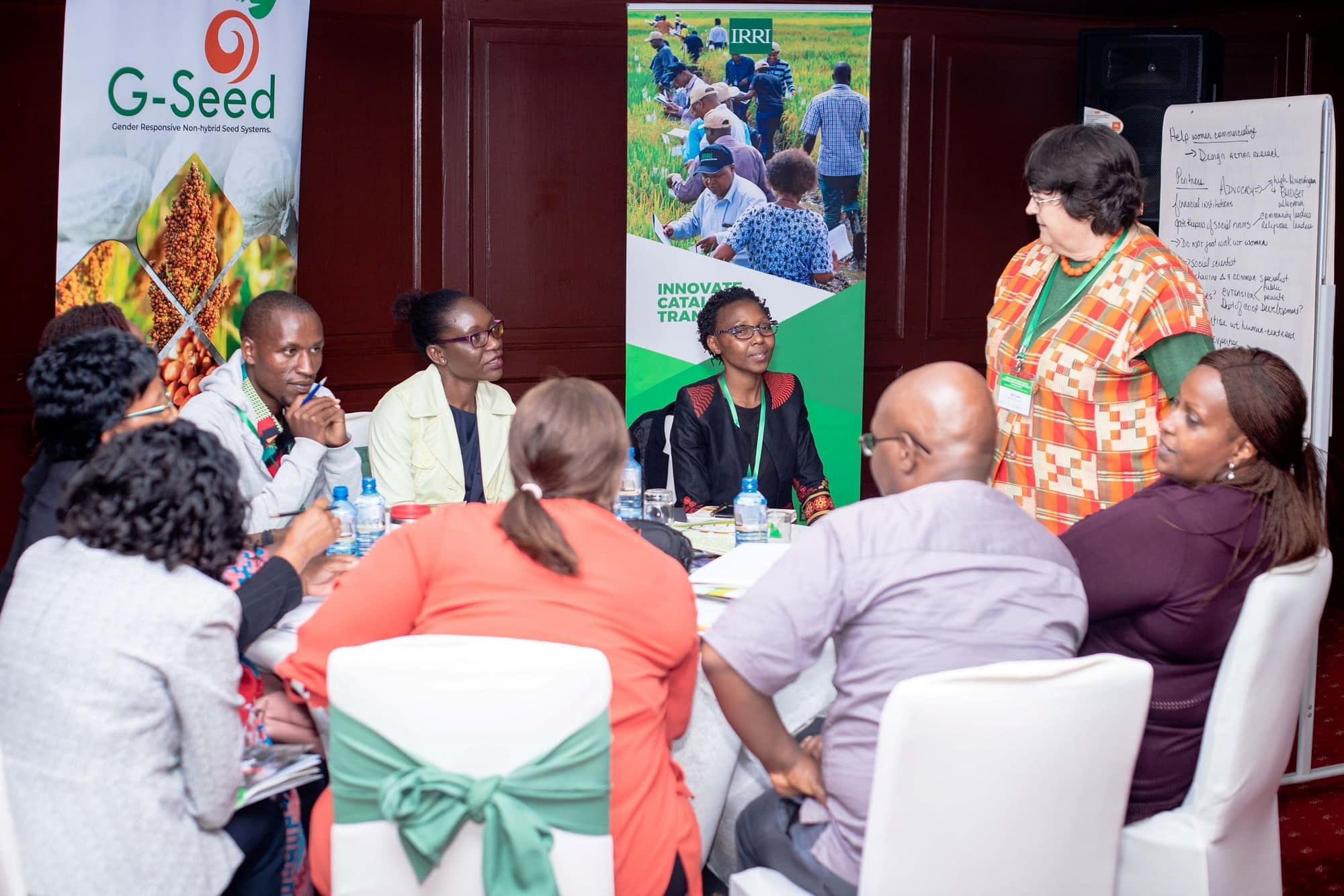 """Some of the participants at the """"Gender dynamics in seed systems in sub-Saharan Africa"""" workshop held on December 2, 2019, in Nairobi, Kenya. (Photo: Kipenz Films/CIMMYT)"""