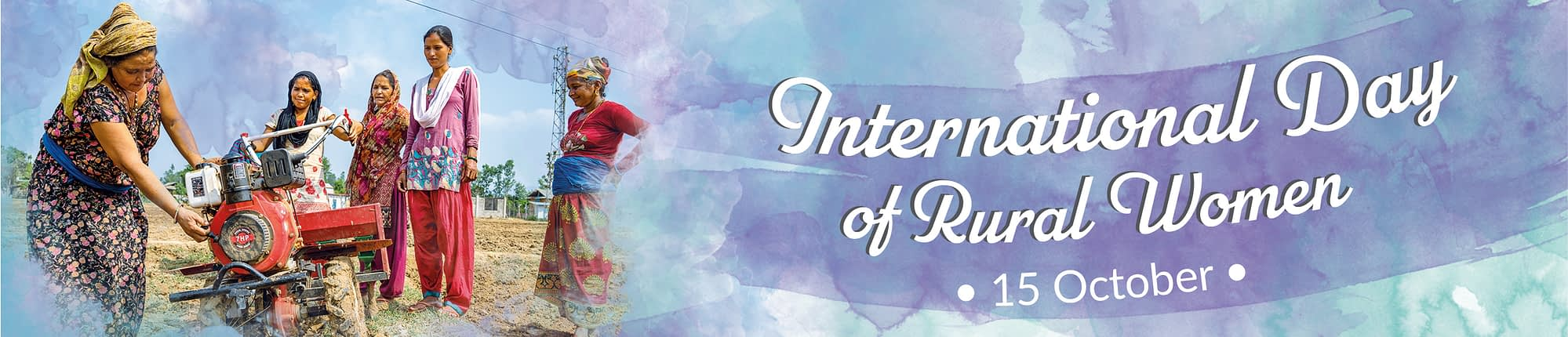 See our coverage of the International Day of Rural Women.