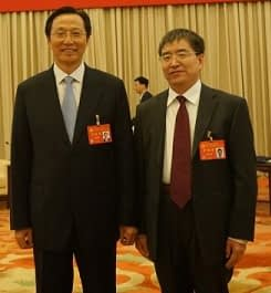 Zhonghu He with His Excellence Mr Changfu Han, Minister of MOA in China.
