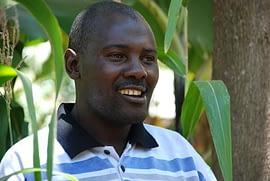Farmer John Bosco Mugambi also participated in the IMAS on-farm trial in the Embu County.