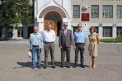 Left to right: Vladimir Shamanin, Alex Morgounov, Sergey Petukhovskiy, Hans Braun, and Nina Kazydub.