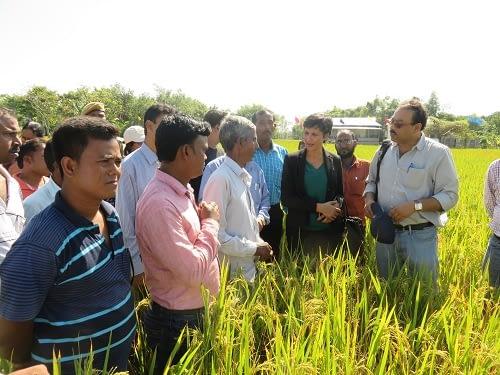 Field visit at SRFSI. Photo courtesy of SRFSI program.