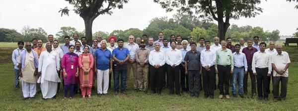 HarvestPlus Wheat Biofortification meeting held at ICRISAT, in Patancheru. Photo credit : HarvestPlus.