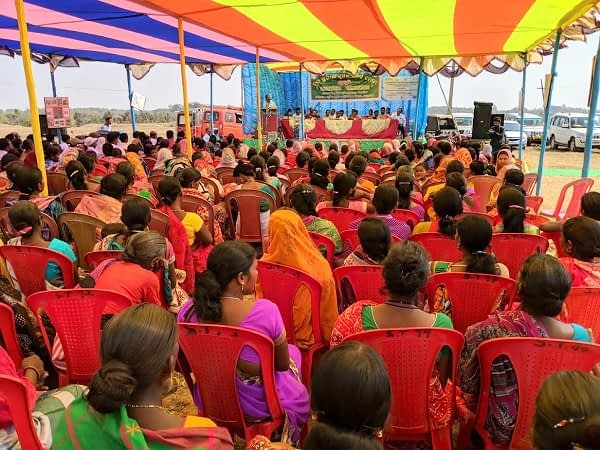 More than 2000 farmers participated in the experience sharing meeting organized by the Department of Agriculture in collaboration with CSISA. Photo: CIMMYT/V.Dakshinamurthy