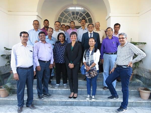 Group photo during Australian High Commissioner to India, Harinder Sidhu's visit. Photo courtesy of SRFSI program.