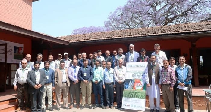 Participants of the international training. Photo: S.Thapa/CIMMYT-Nepal