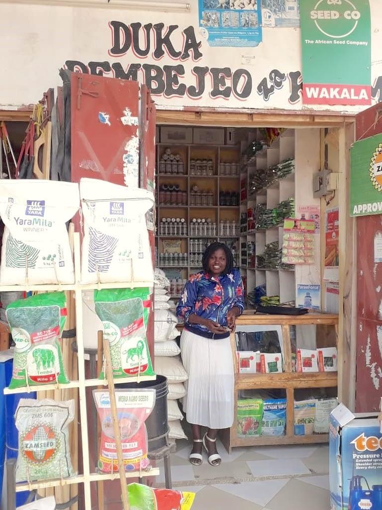 Judith Thomson, agrodealer in Mbalizi, Mbeya district, Tanzania. (Photo: Owekisha Kwigizile)