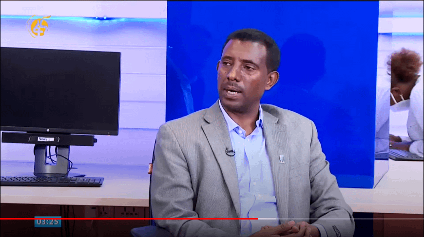 Kindie Tesfaye (CIMMYT) appears on Fana Television.